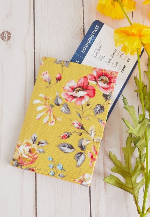 Floral Passport Holder
