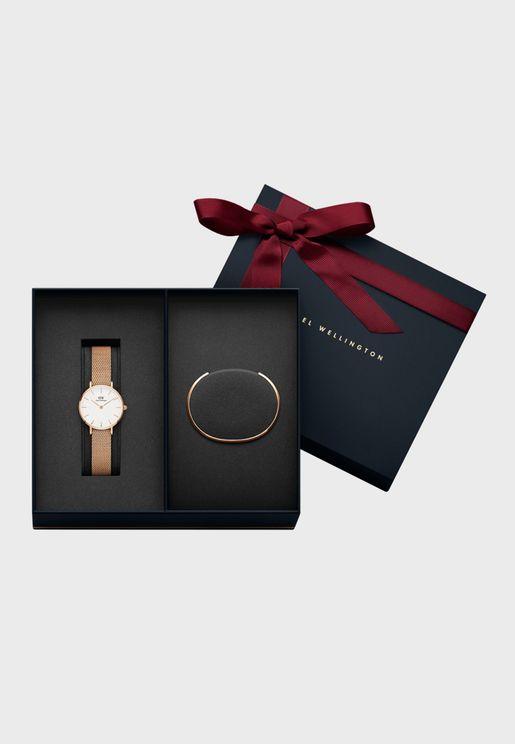 Women's Classic Petite Melrose Watch + Classic Bracelet Rose Gold - Small DW00500020