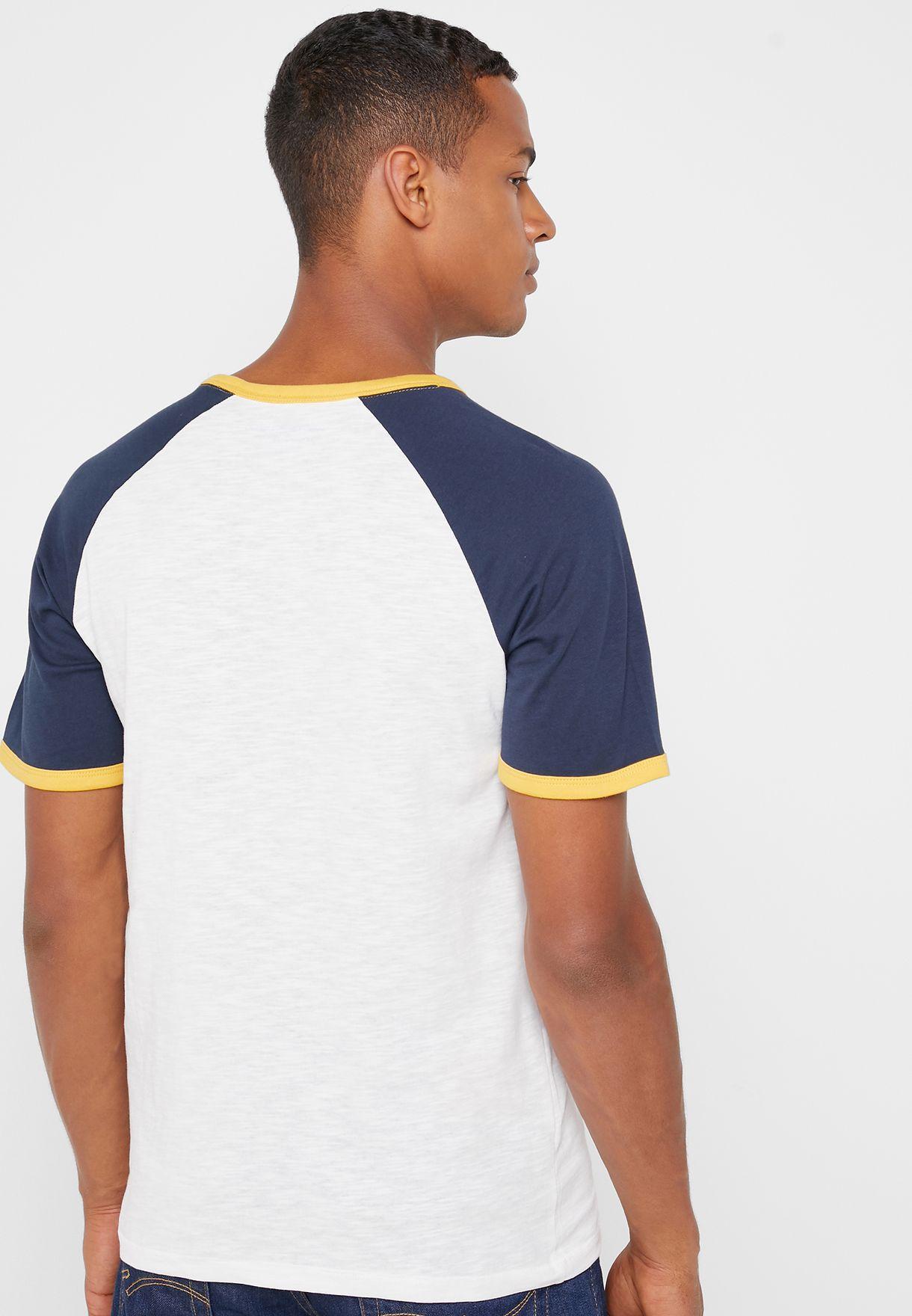 Retro Raglan Crew Neck T-Shirt