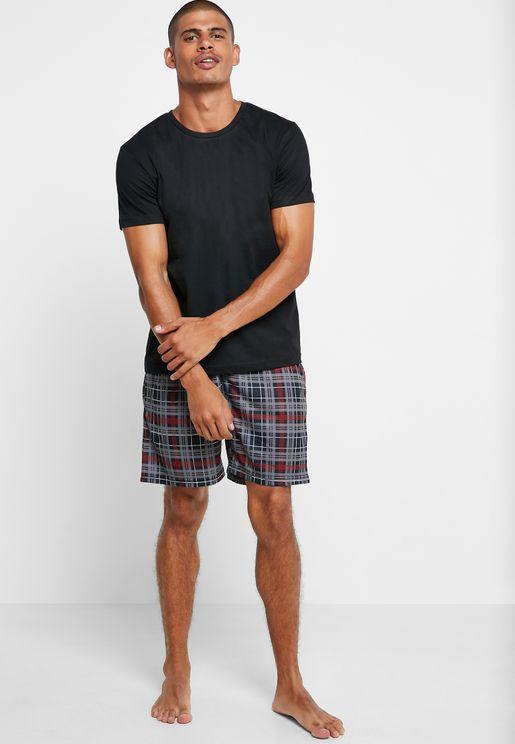 Checked Short Pyjama Set