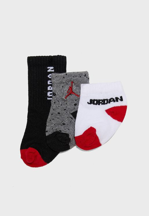 Infant 3 Pack Jordan Waterfall Socks