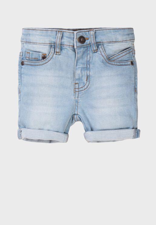 Teen Basic Denim Shorts