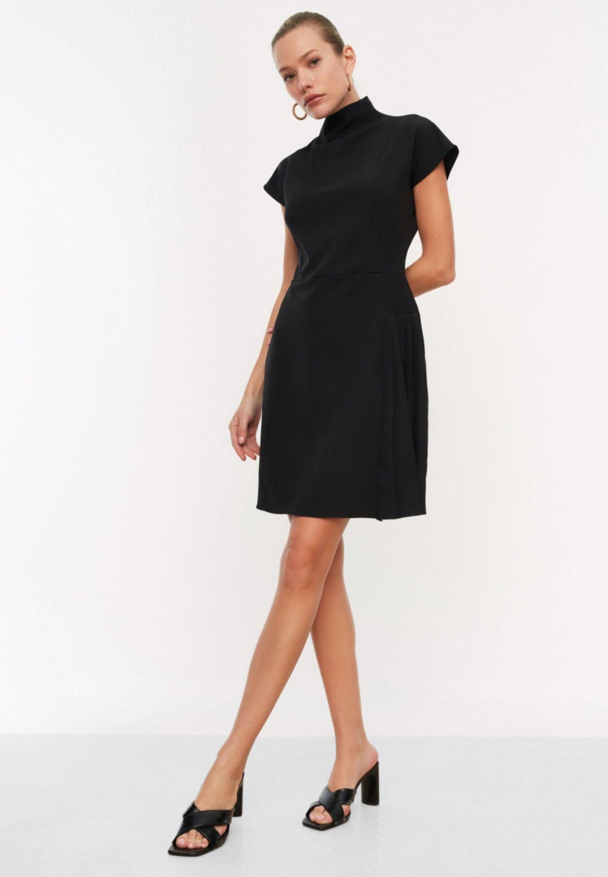 Pleated Detail Shift Dress