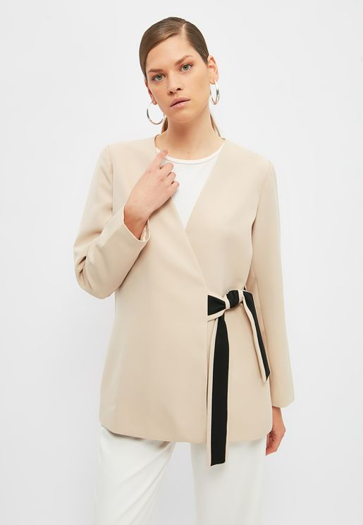Knitted Wrap Jacket
