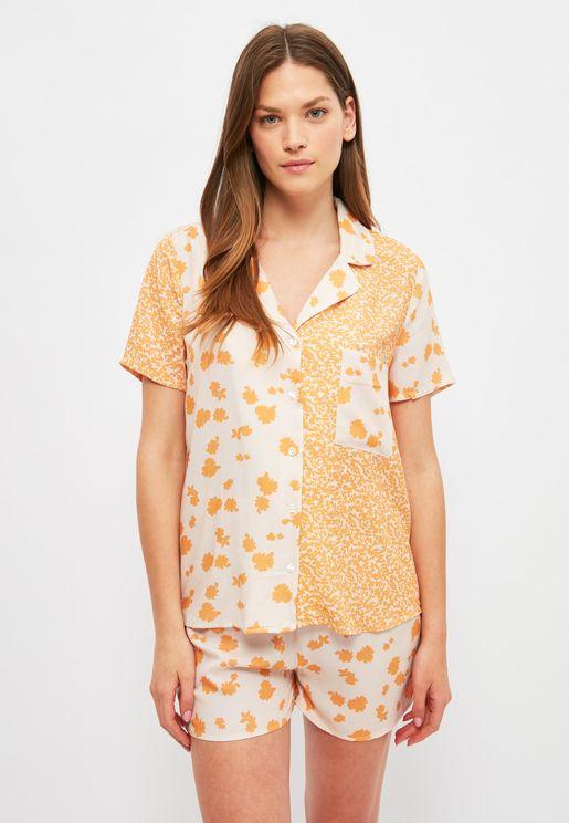 Floral Print Pyjama Set
