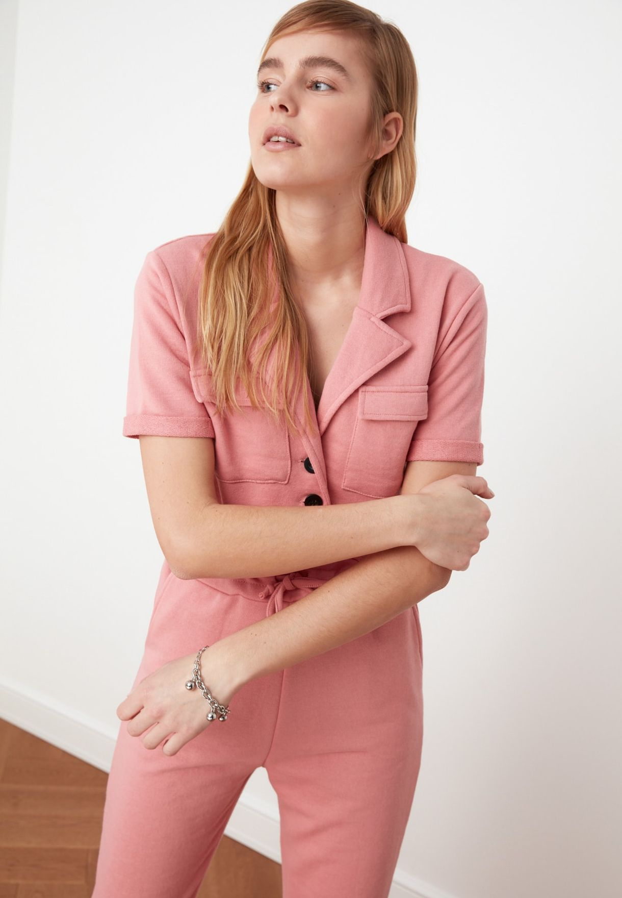 Pocket Detail Knitted Jumpsuit