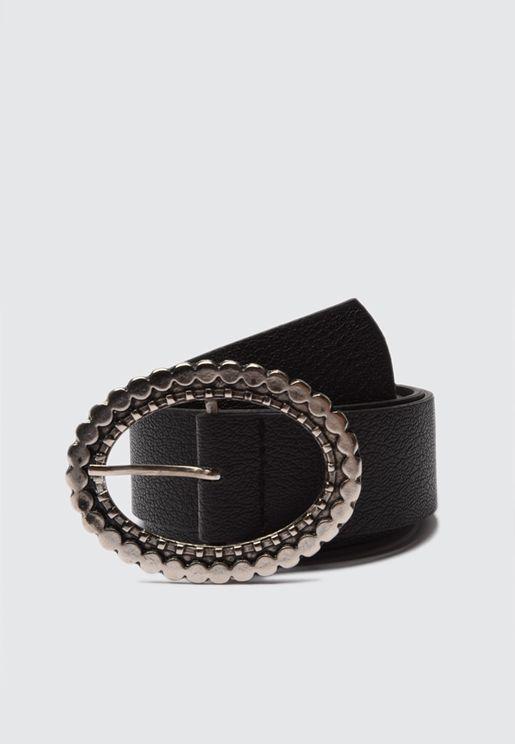 Look Buckle Detail  Belt
