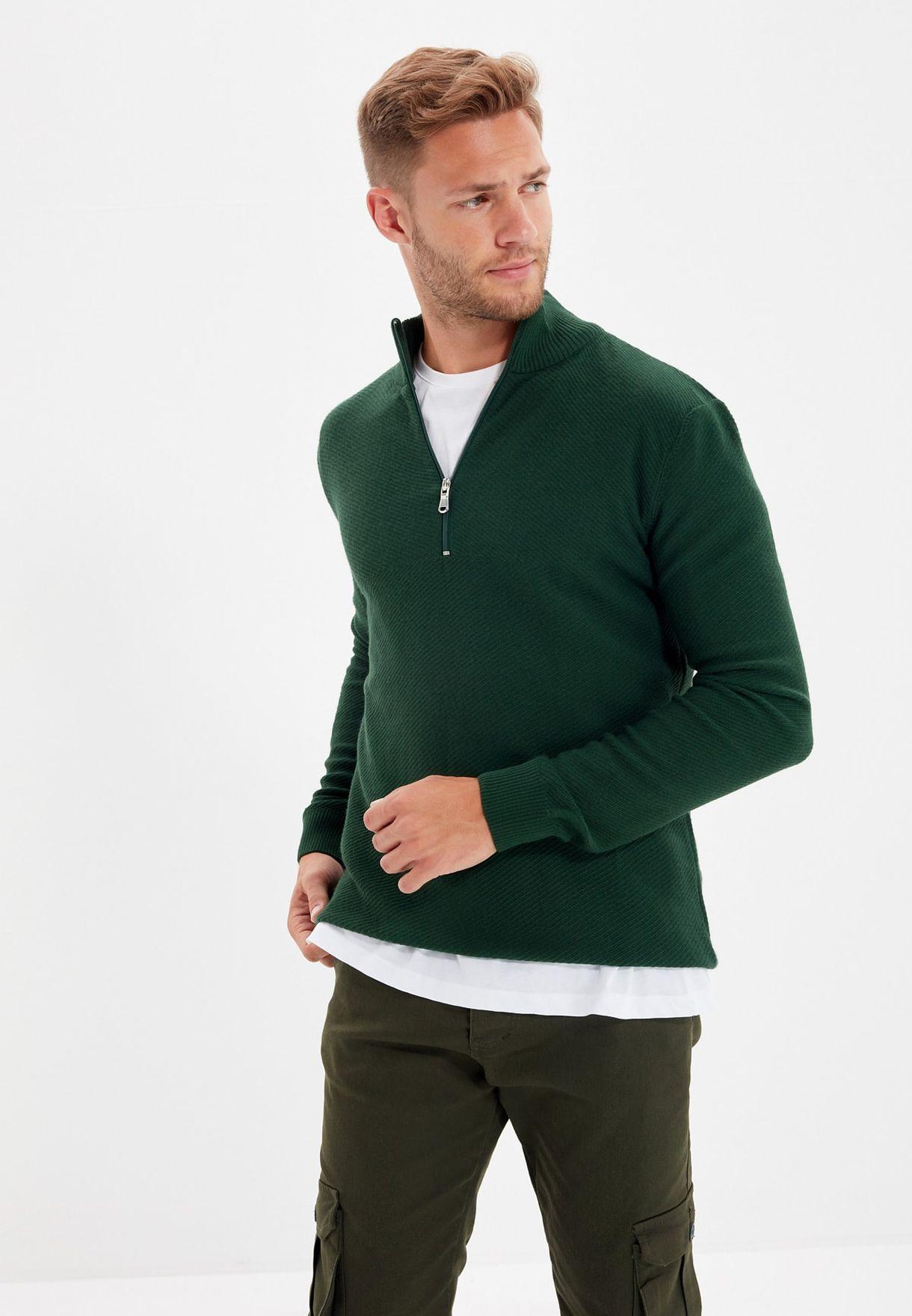 Half Zip Turtle Neck Sweater