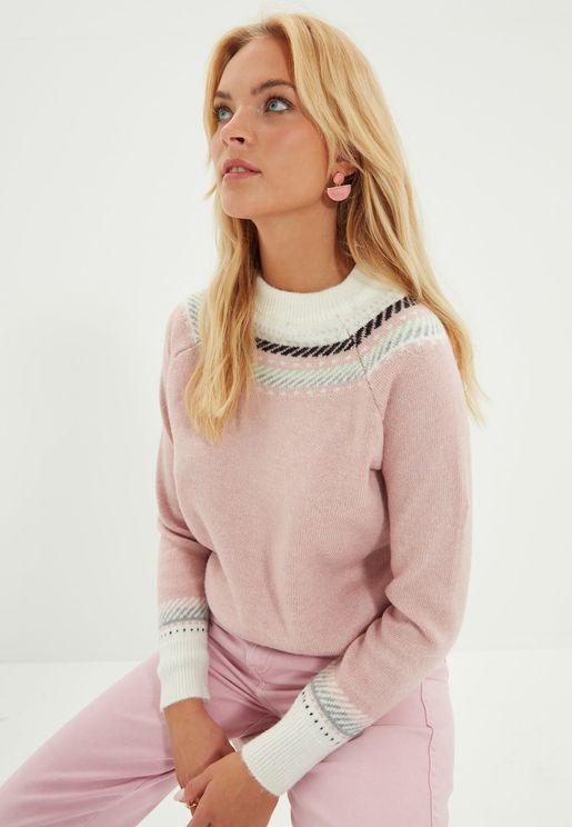 Crew Neck Knitted Sweater