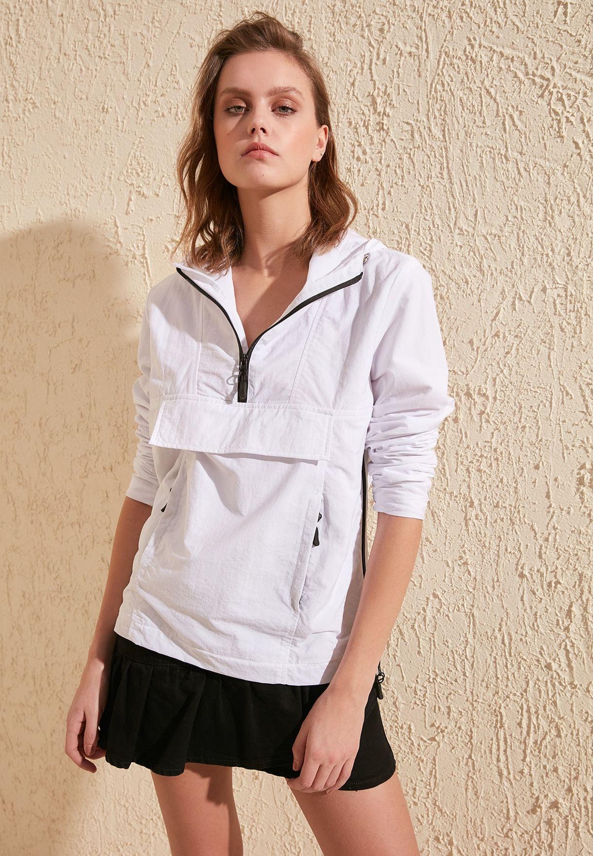 Trendyol Zip Detail Hoodie - Fashion