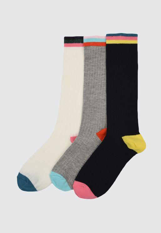 3-Pack Knitted Socks