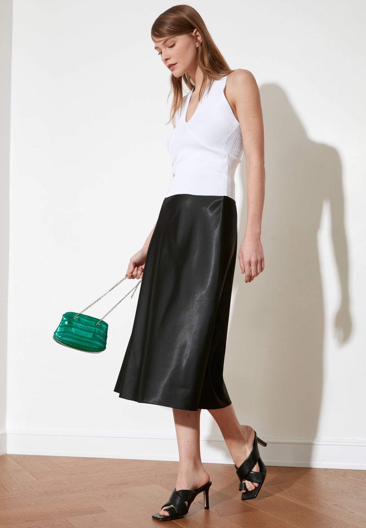 Trendyol High Waist Midi Skirt - Fashion