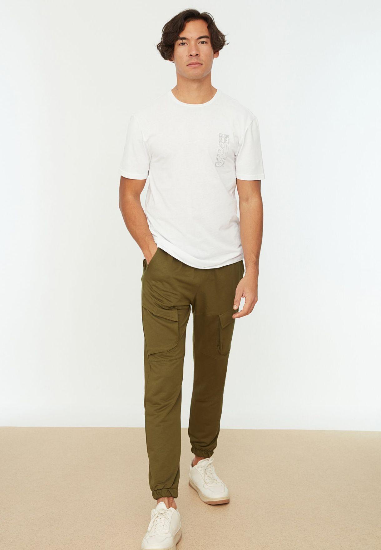 Cuffed Cargo Pants