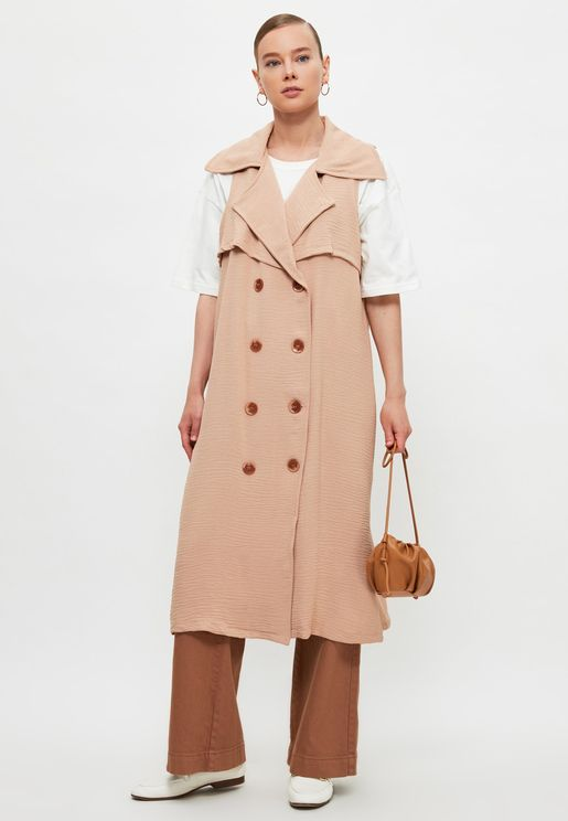 Longline Knitted Coat