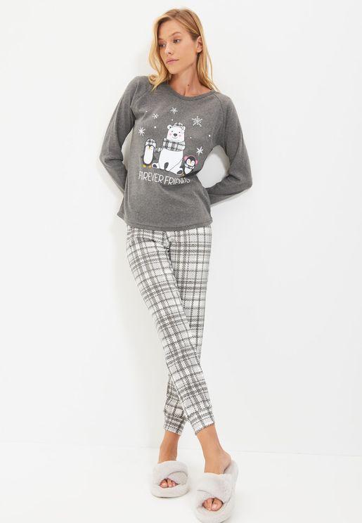Knitted Pyjama Set