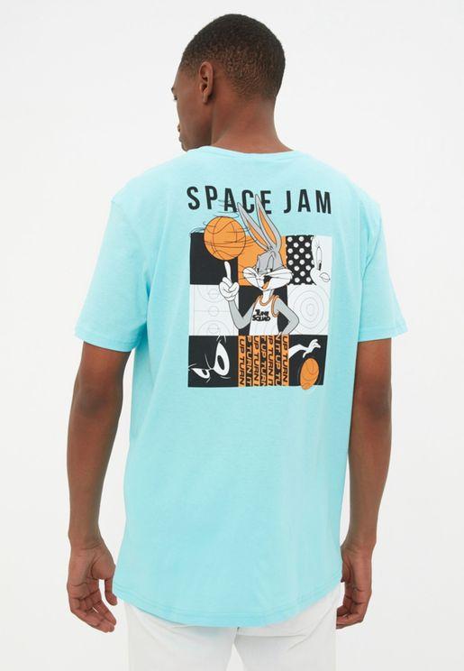 Space Jam Crew Neck T-Shirt