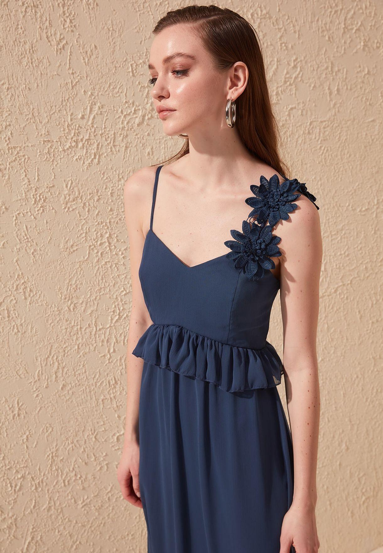 Floral Detail Cami Strap Dress