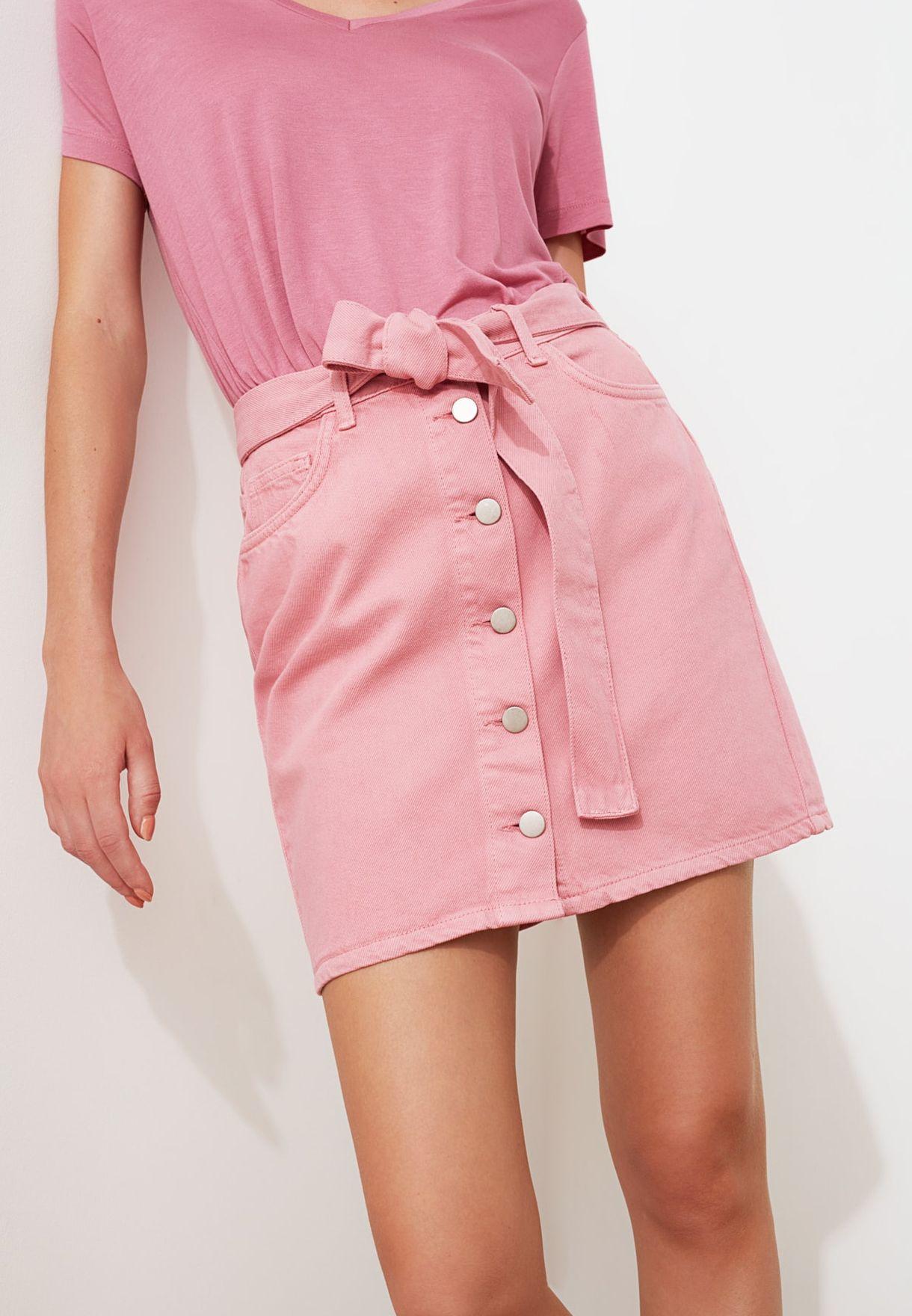 تنورة جينز ميني