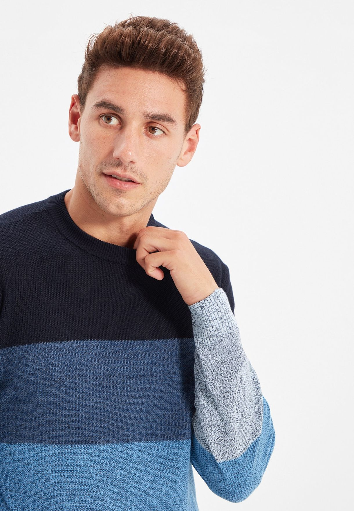 Color Block Knitted Sweater