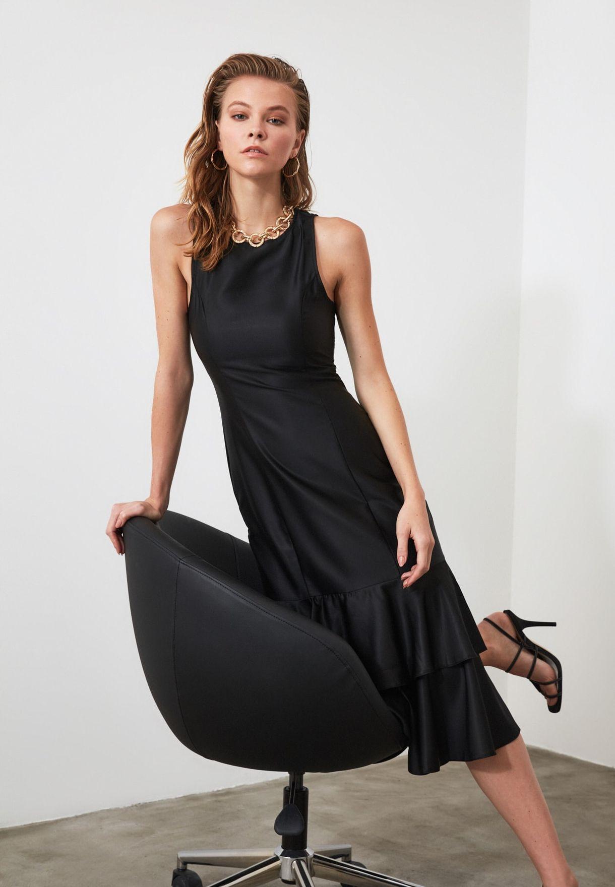 Overlay Skater Dress