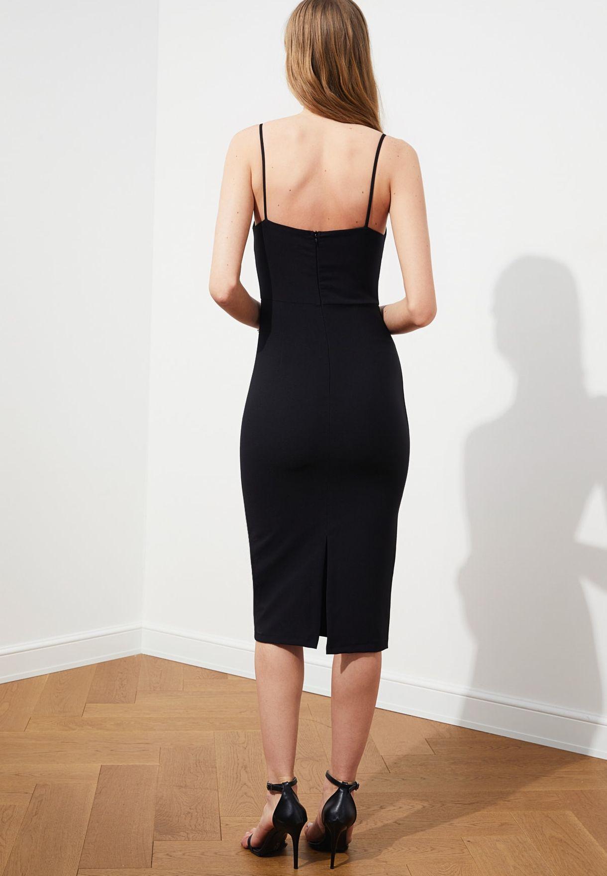Square Neck Cami Strap Dress