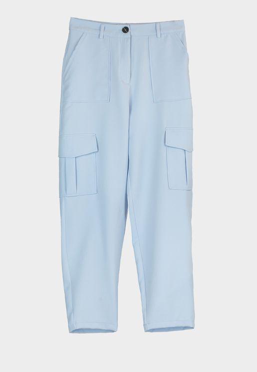 Side Pocket Detail Pants