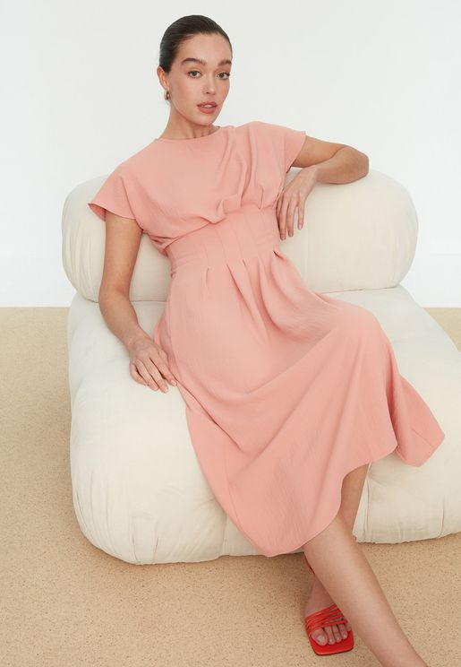 Pleated Waist Dress