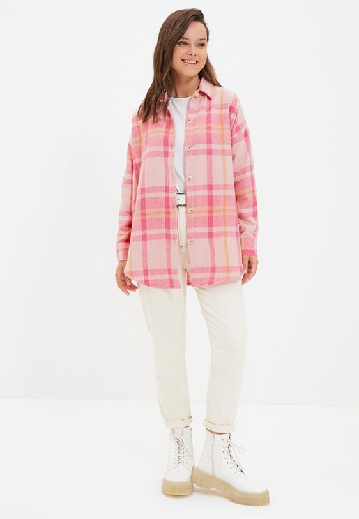 Checked Tunic Top