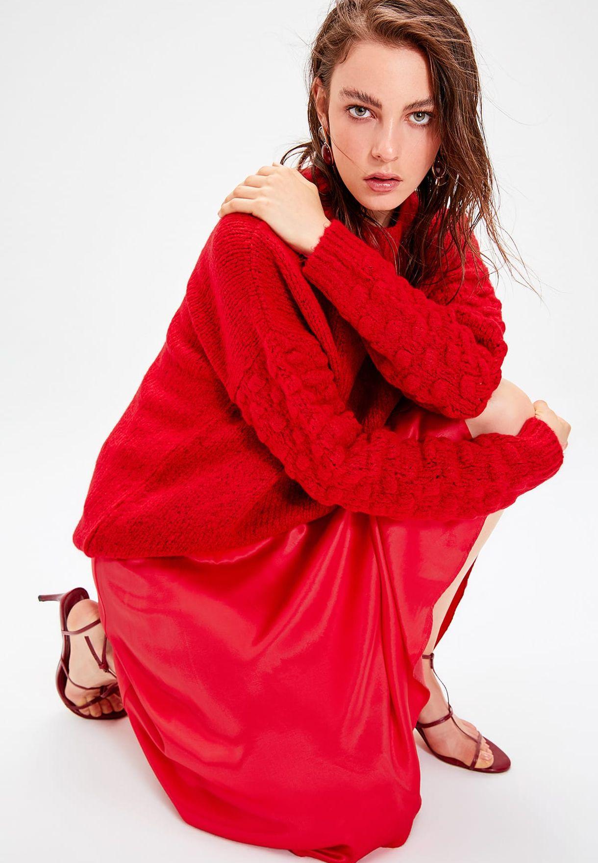 Trendyol Pompom Detail Sweater - Fashion