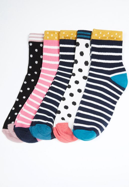 5 Pack Knitted Socks