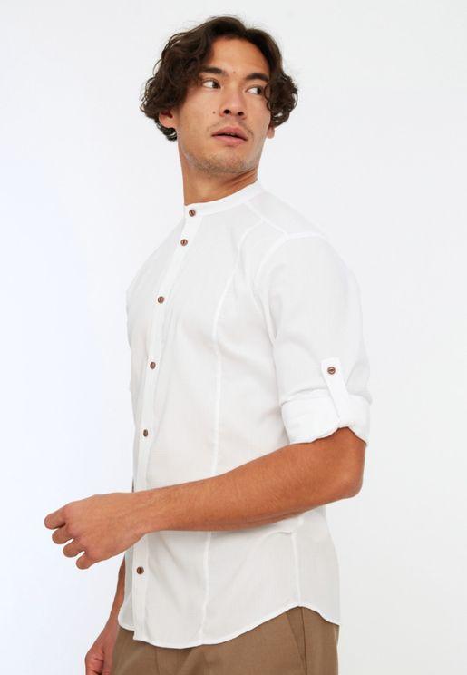 Ribbed Extra Slim Fit Shirt