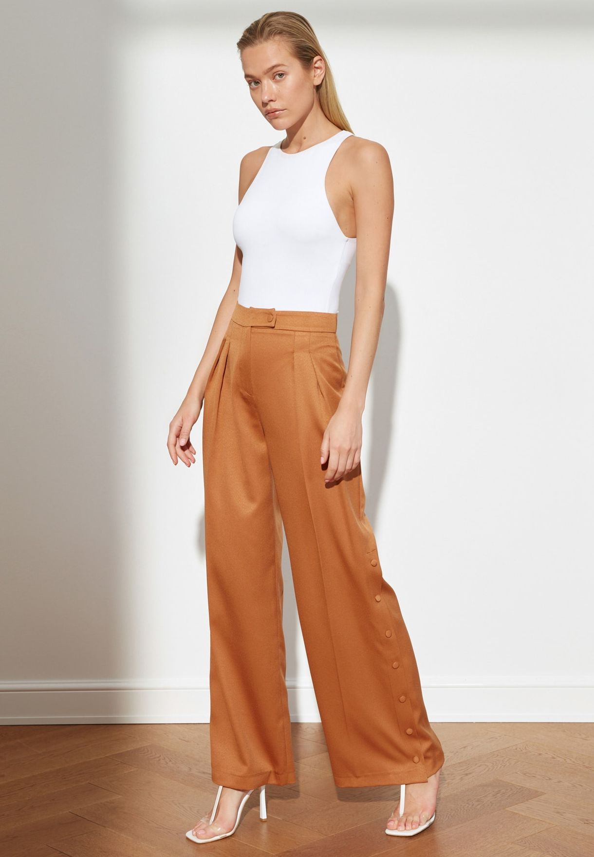 Casual Leg Detailed Trousers
