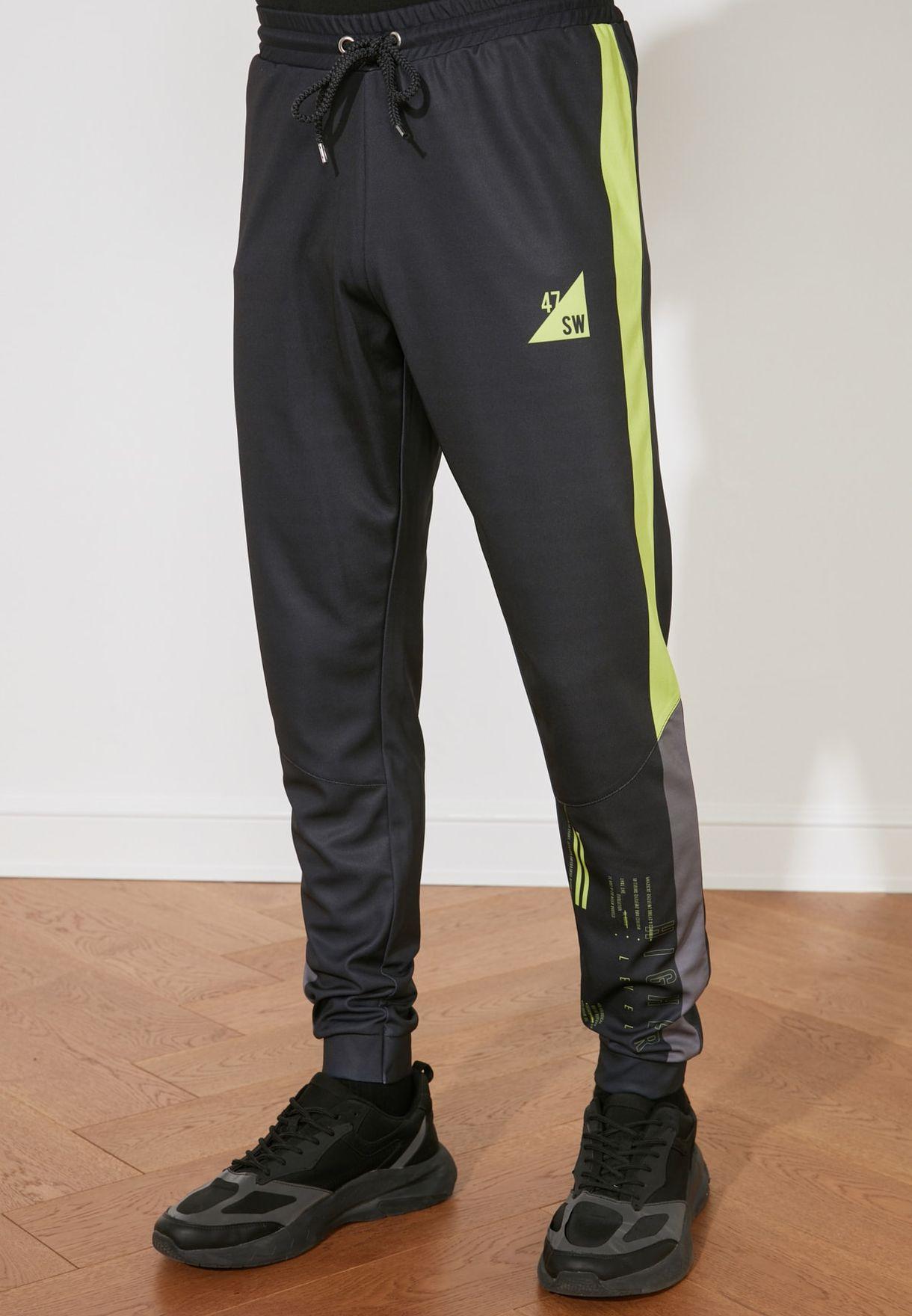 Side Striped Sweatpants