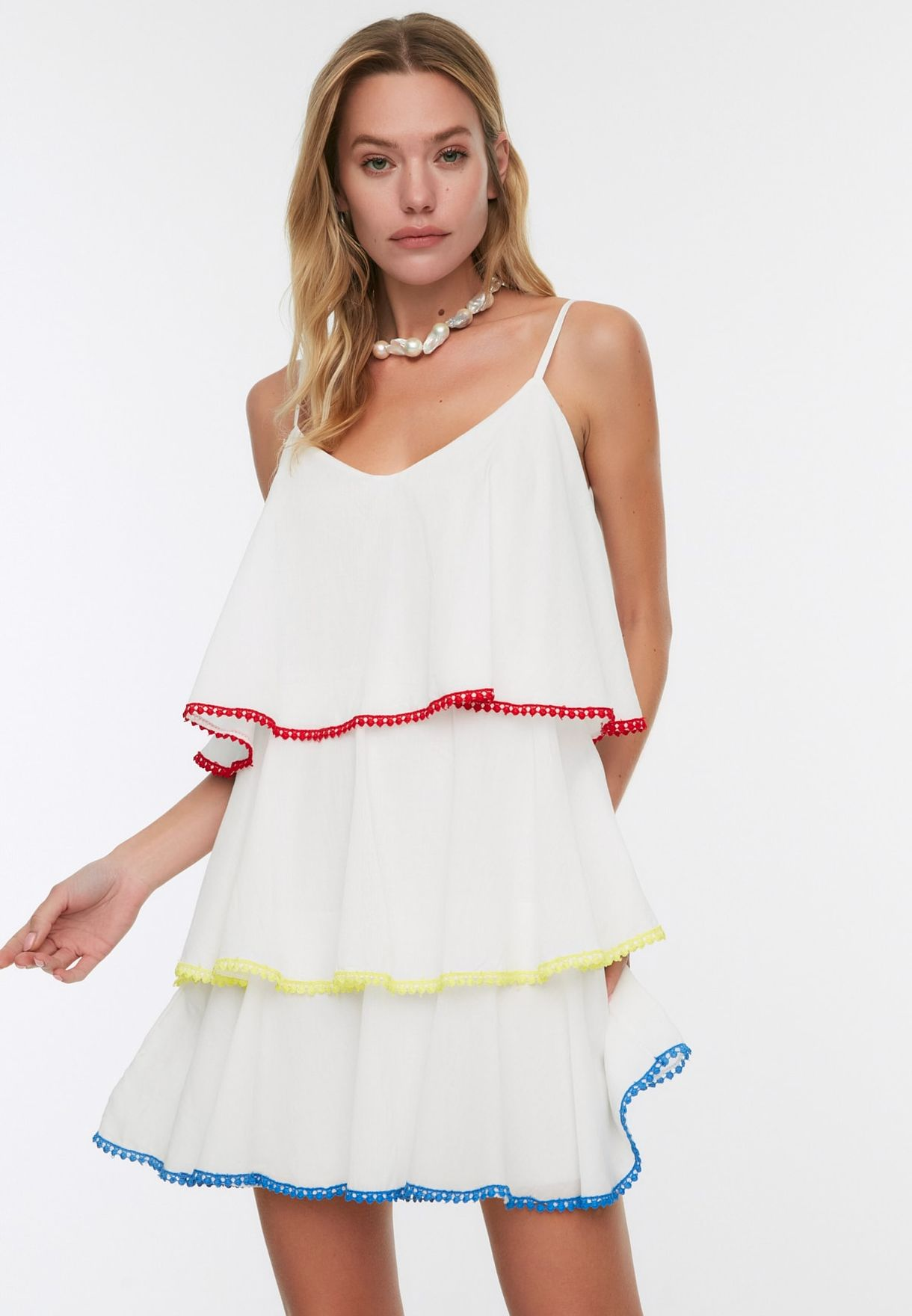 Layered Pleated Dress