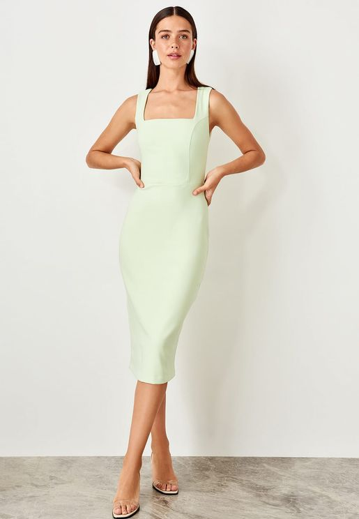 Square Neck Bodycon Dress