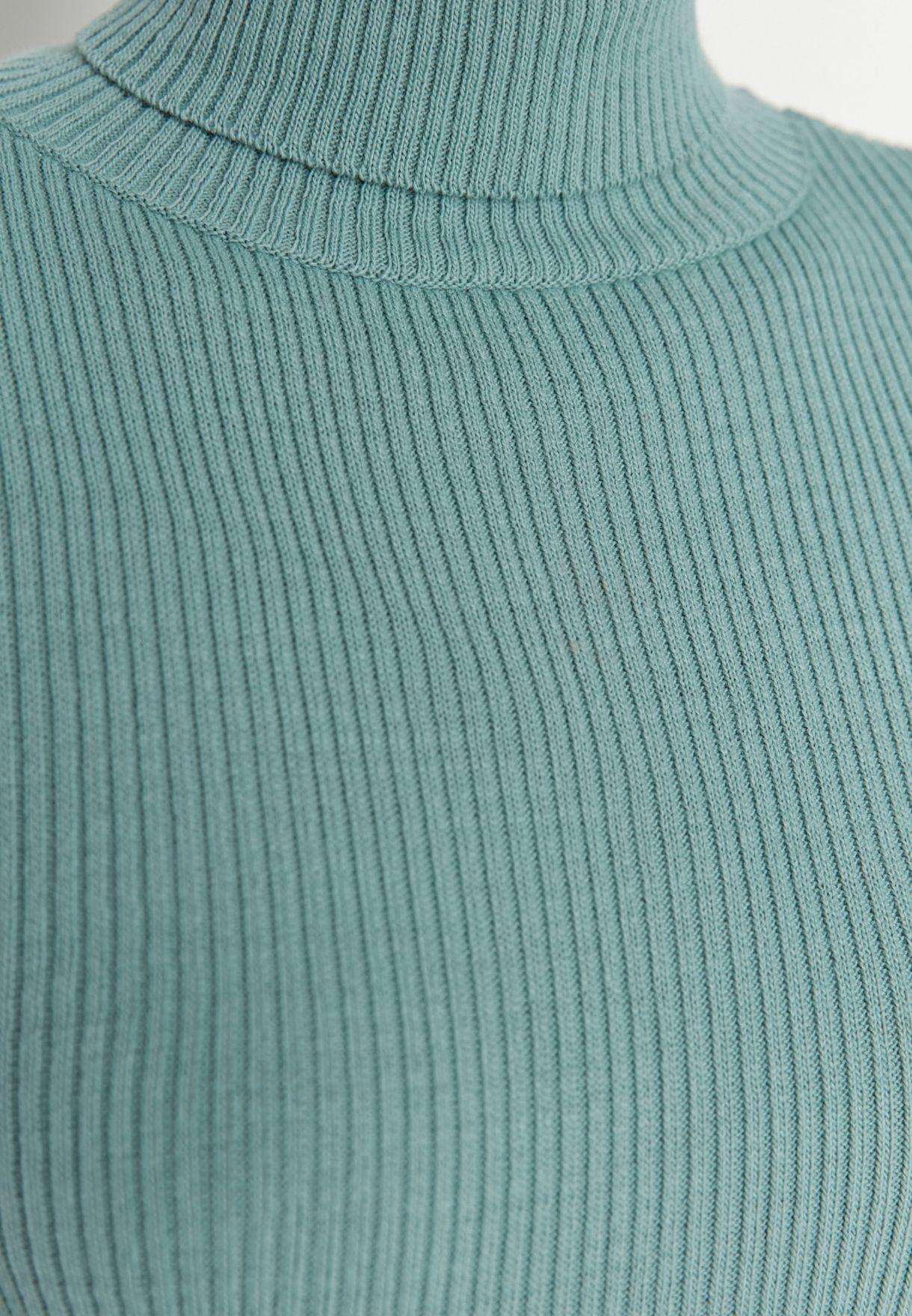 Turtleneck Ribbed Sweater