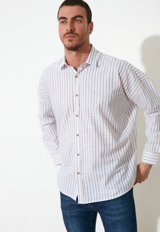 Striped Relaxed Fit Shirt
