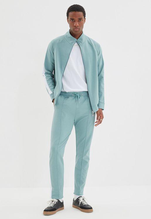 Regular Fit Paneled Track Suit