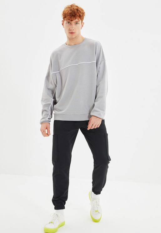 Drawstring Straight Fit Pants