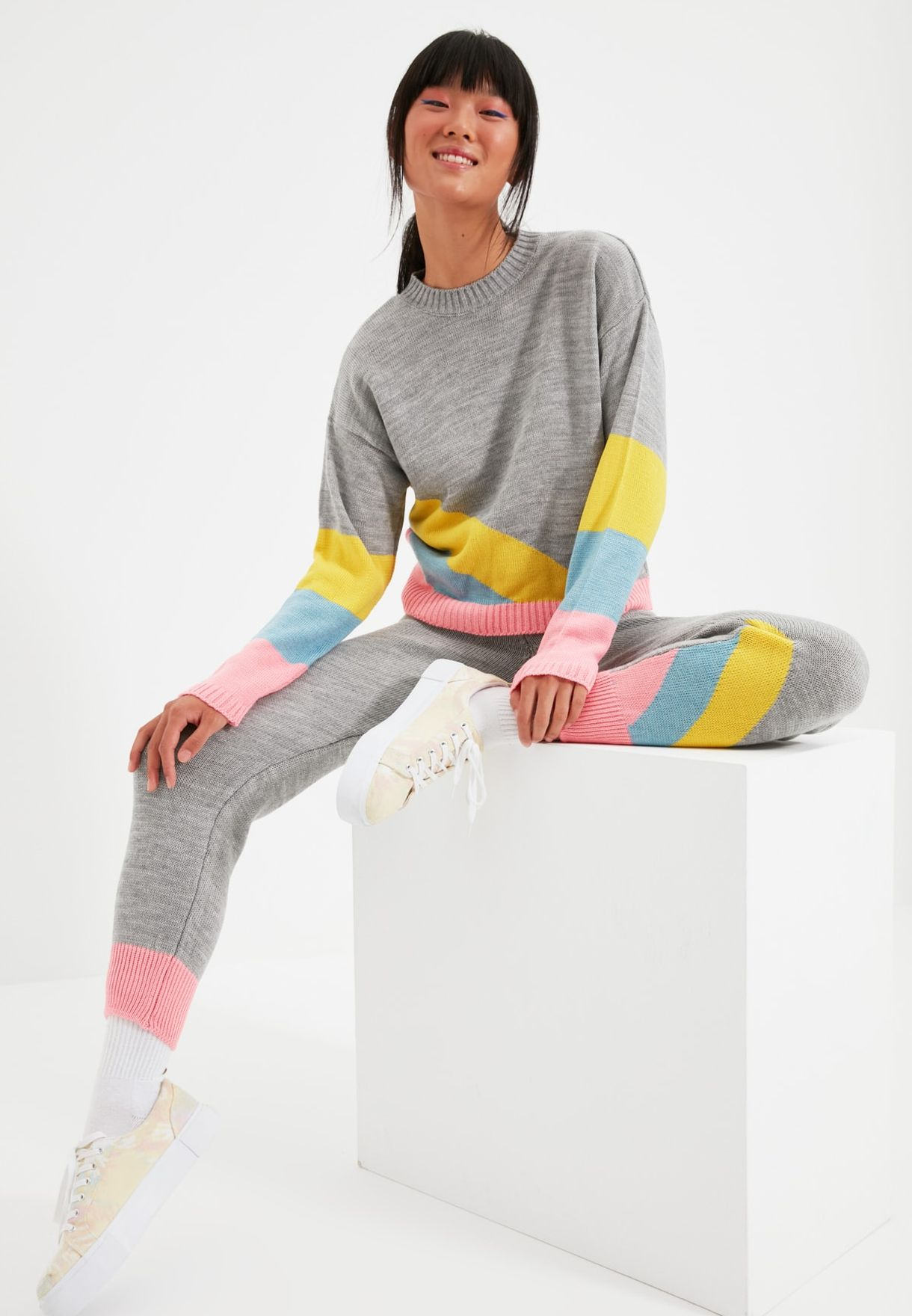 Knitted Sweater & Pants Set