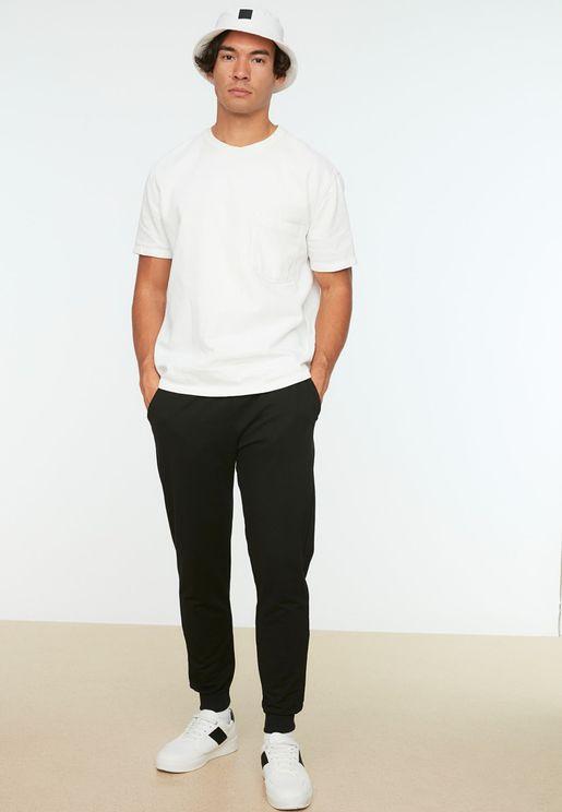 Drawstring Cuffed Sweatpants