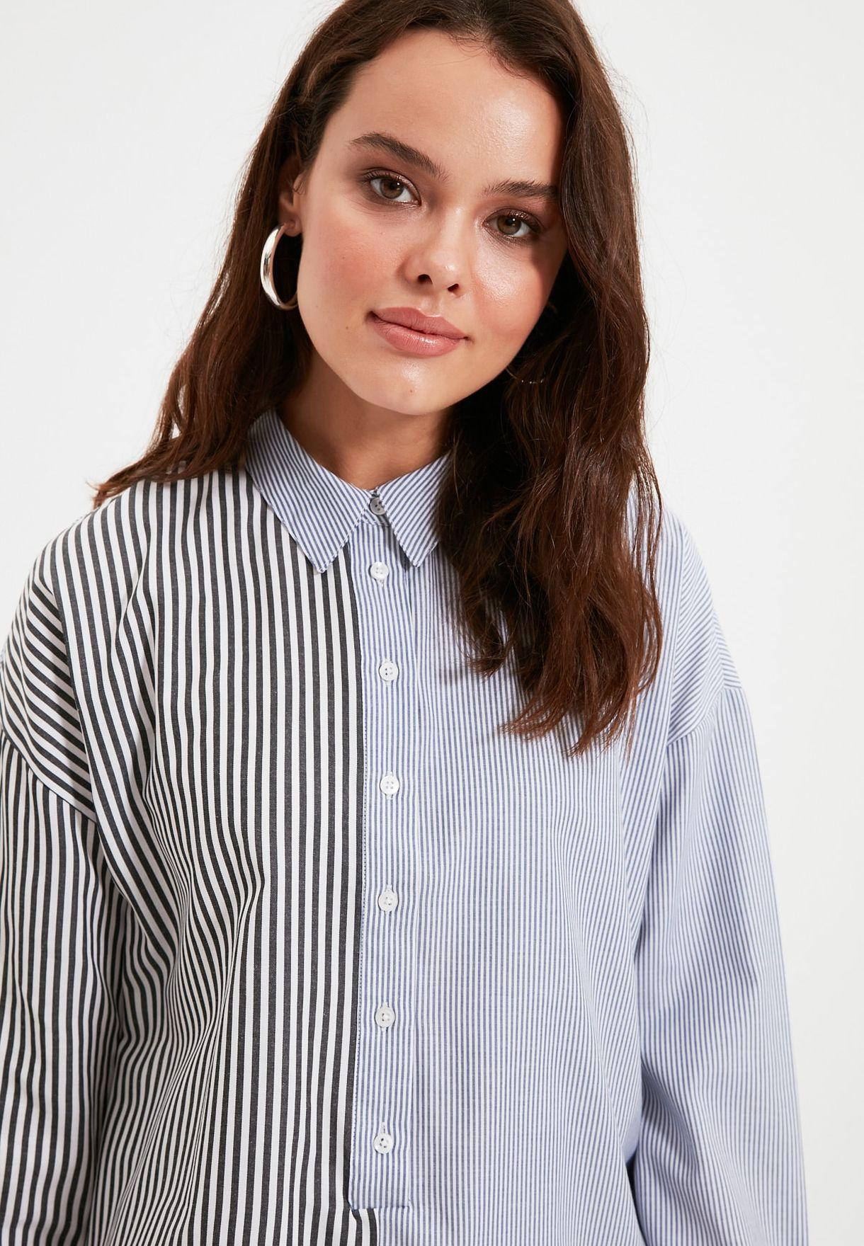 Striped Colorblock Tunic