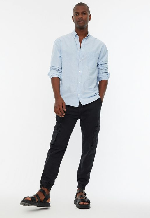 Rinse Relaxed Cargo Jogg Jeans