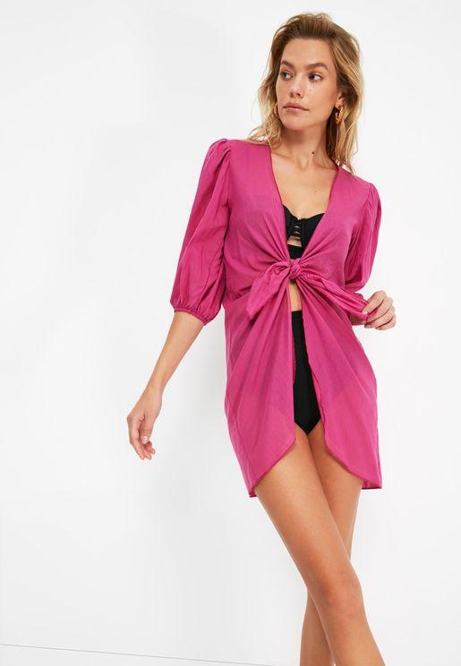 Pleated Beach Dress