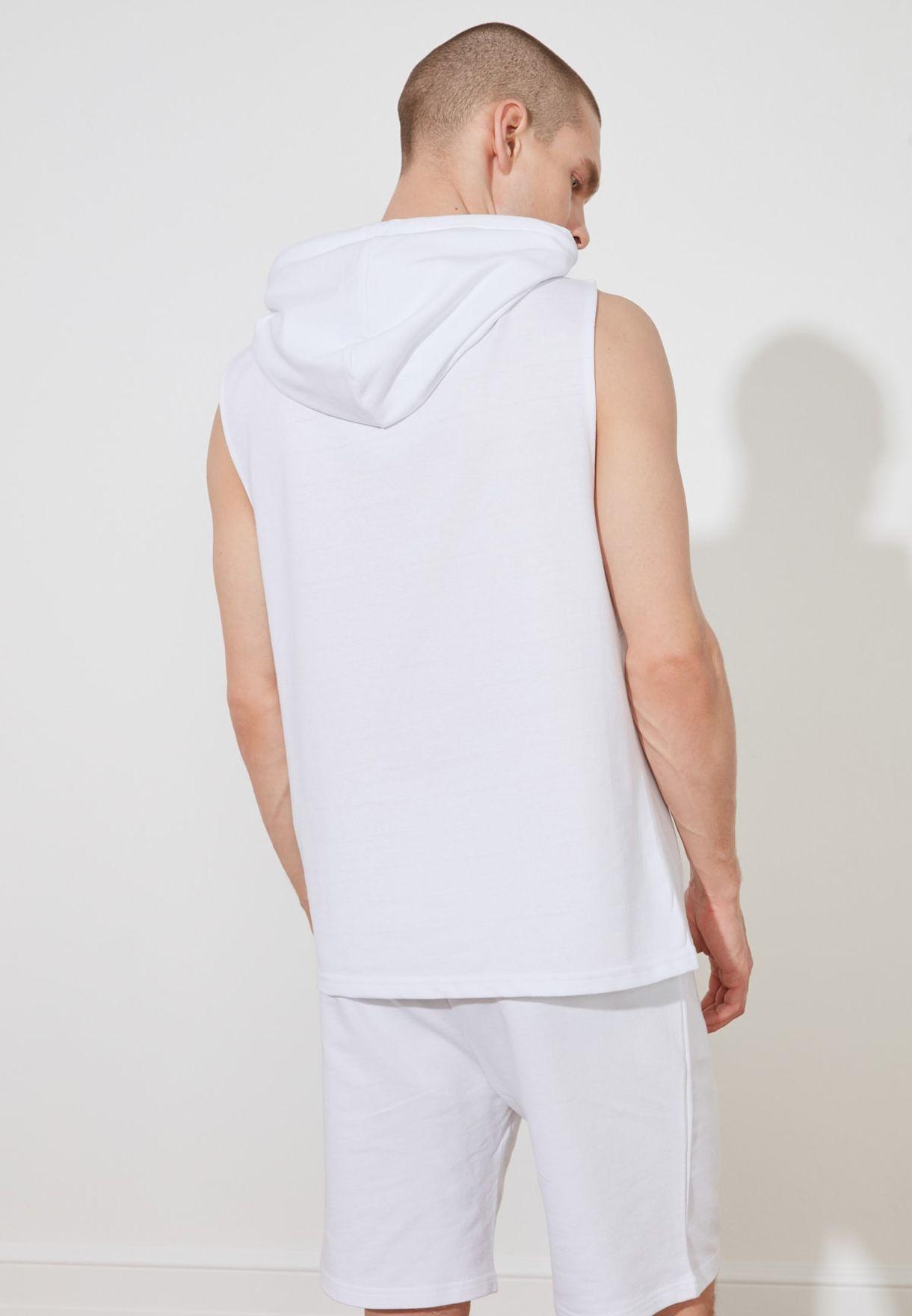 Mesh Detail  Hooded Vest