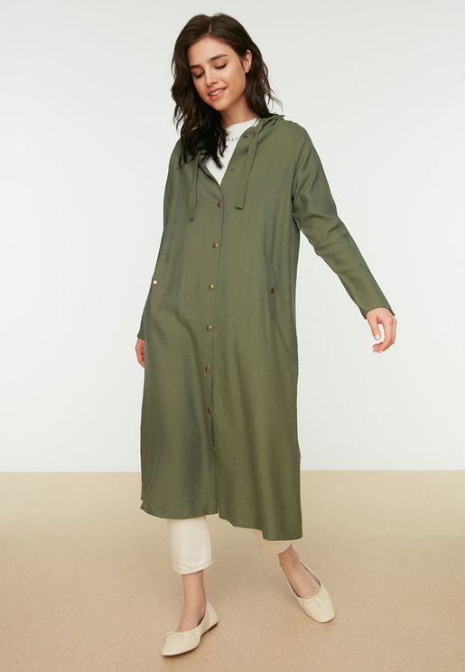 Hooded Button Down Abaya