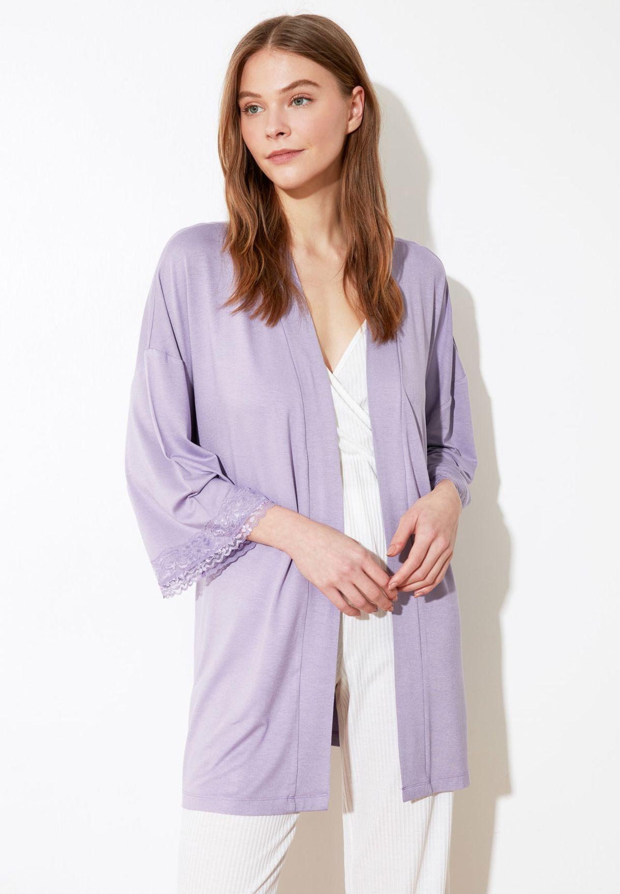 Lace Detail Kimono