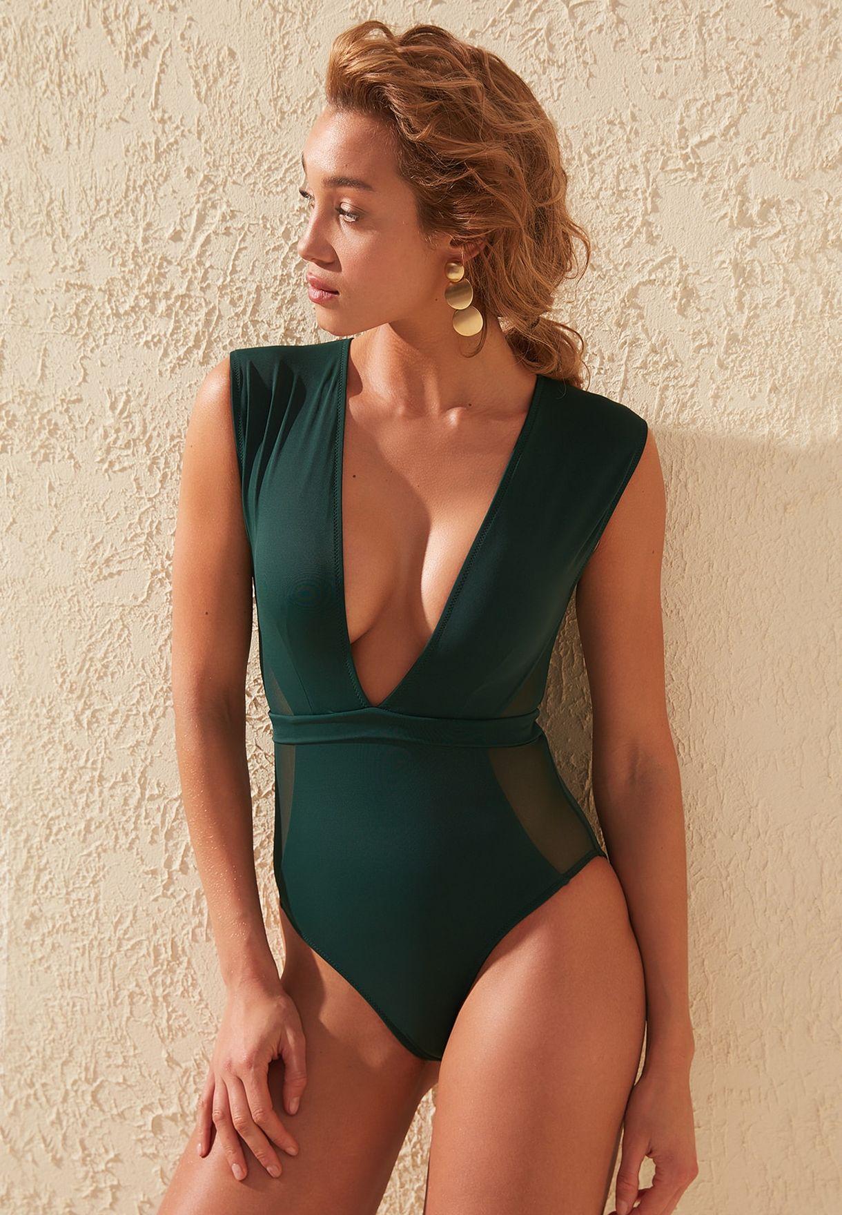 Mesh Detail Swimsuit