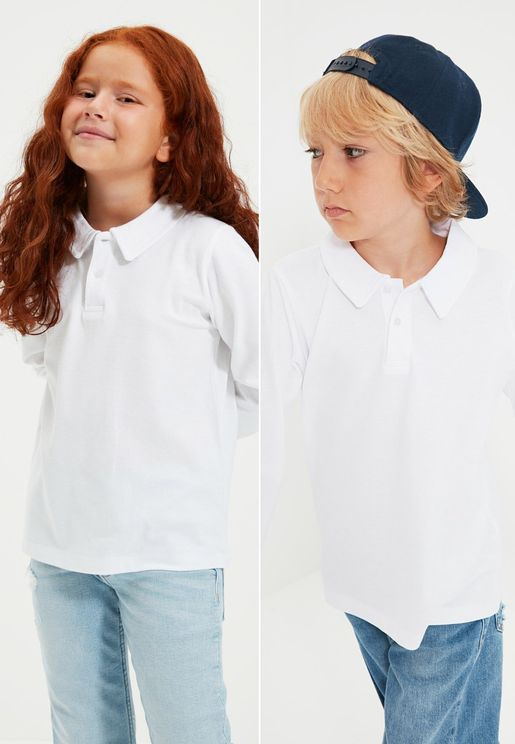 Kids 2 Pack Essential Polo