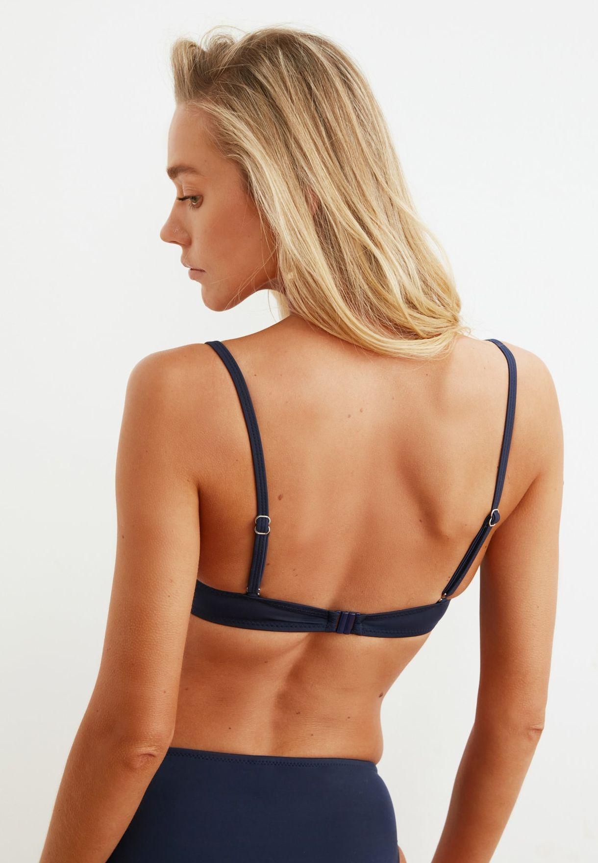 Ruffle Detail Bikini Top